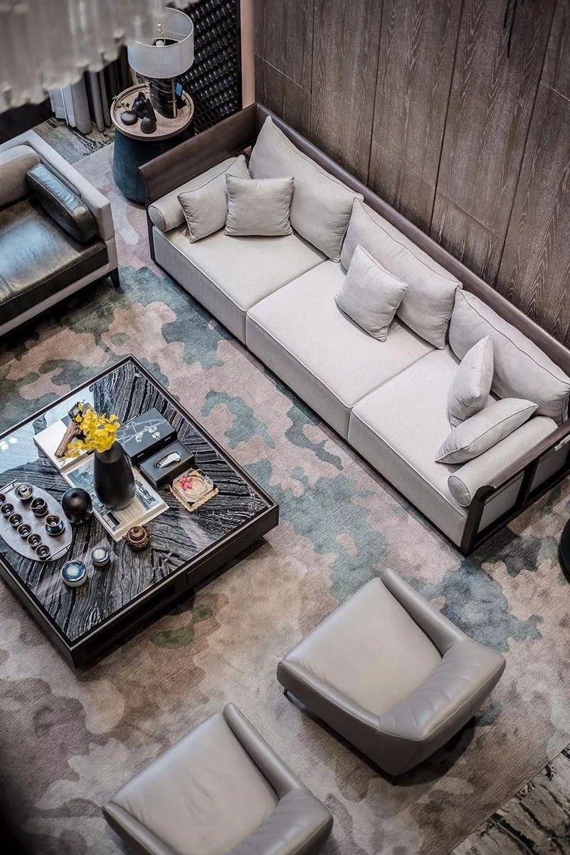 简约贵气的美感 800㎡ 新中式别墅样板房 | 聚舍联合设计