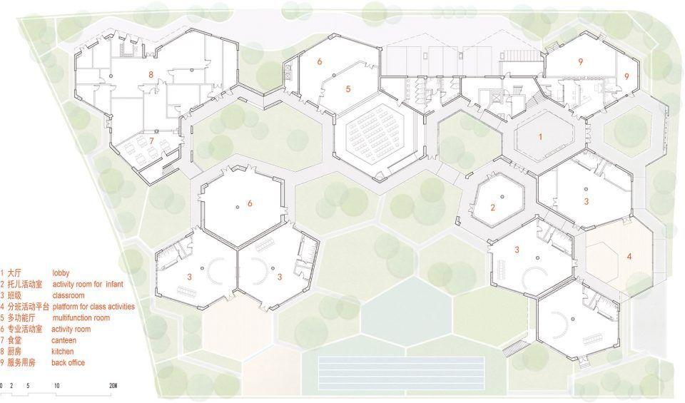 上海华东师范大学附属幼儿园︱山水秀建筑