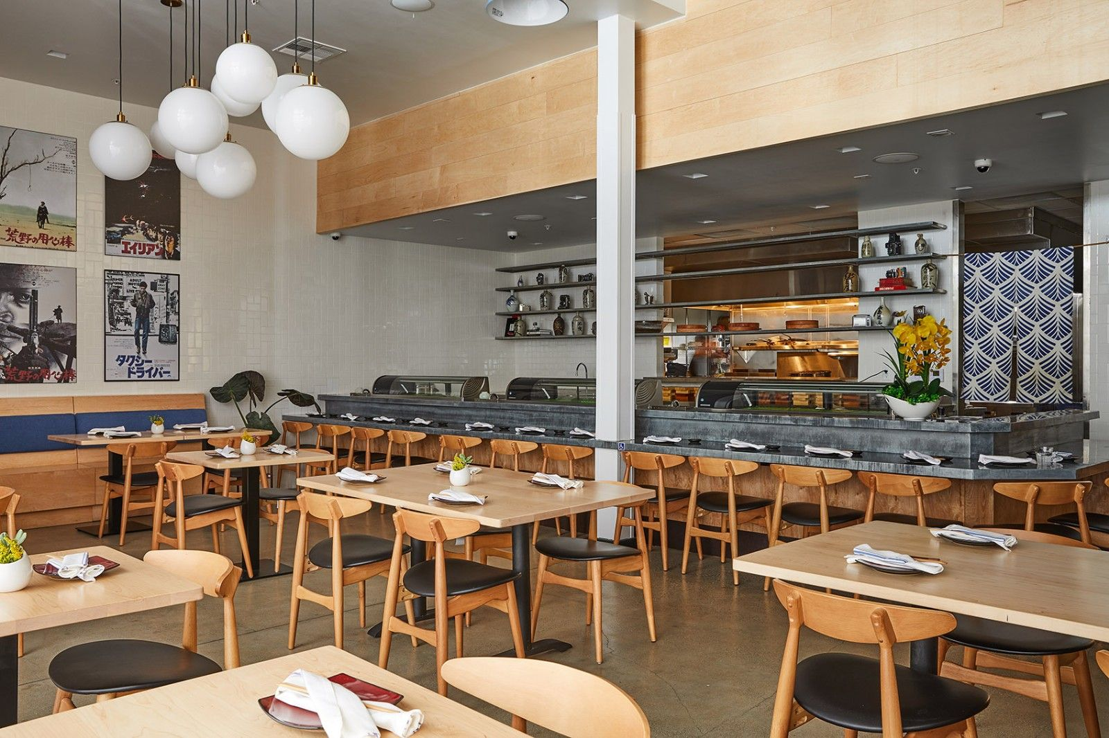 与日本纹身艺术结合的餐厅·洛杉矶清酒道场   Wick Architecture & Design and LAND Design Studio