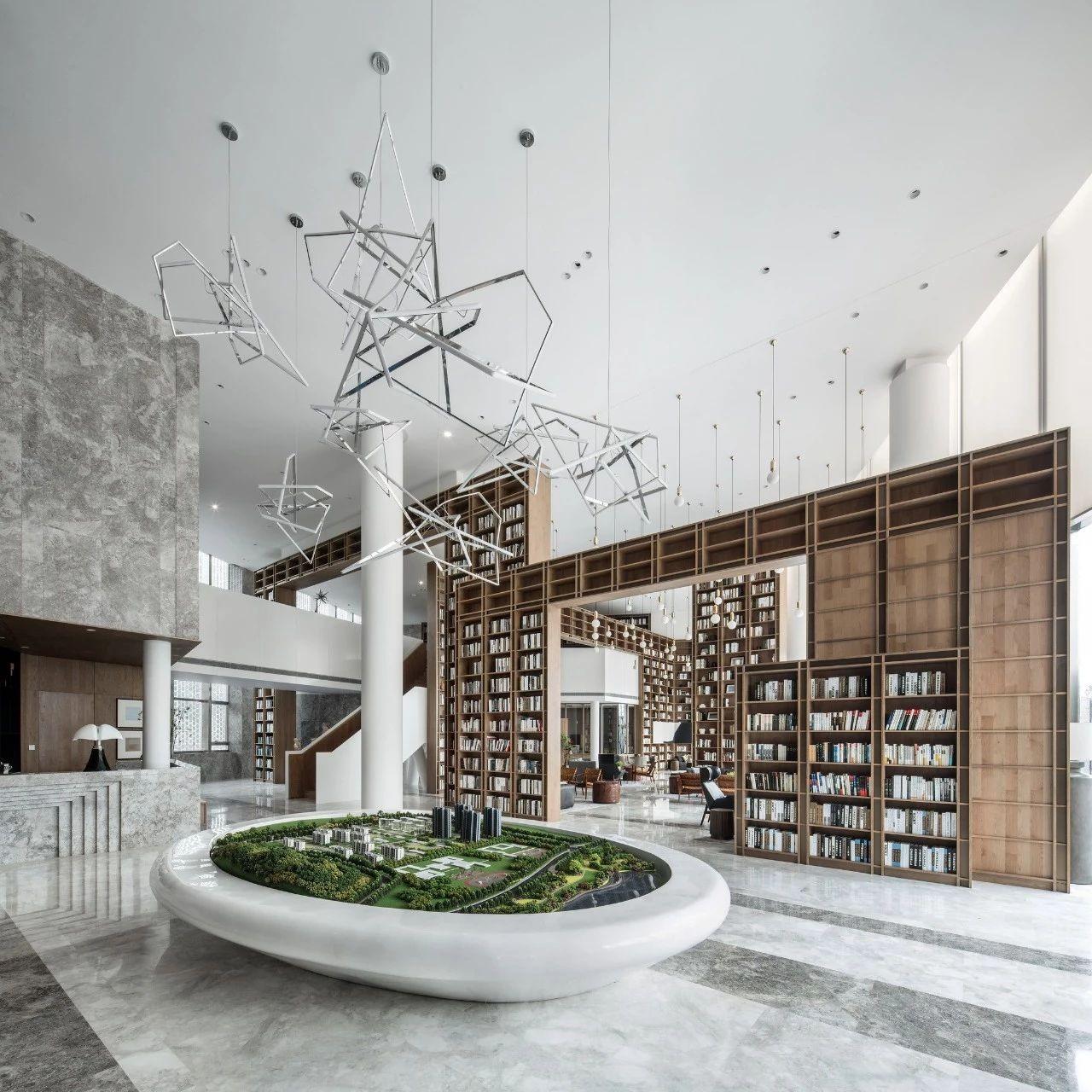 尚壹扬新作:解构的图书馆—— 绿城武汉凤起乐鸣销售中心