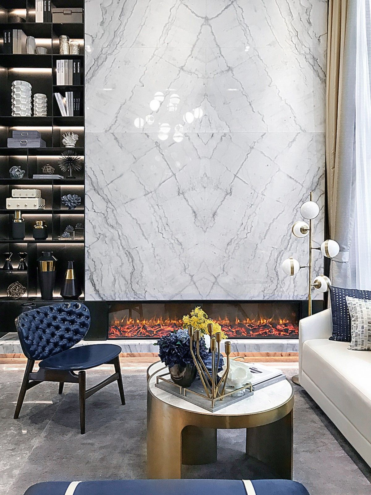 96㎡龙湖大众路公寓陈设设计 | 柏舍设计