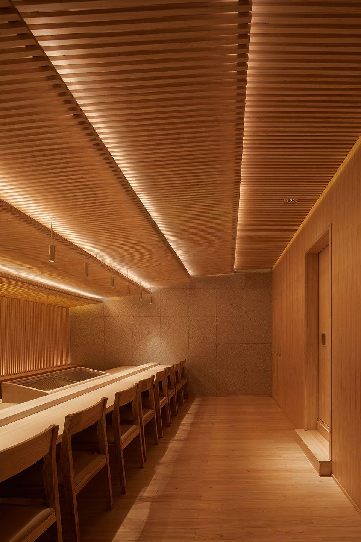 两种风格拼合而成的餐厅,成都炉端烧源六+会席尺八 | 堤由匡建筑设计工作室|堤由匡建筑设计工作室 - 10
