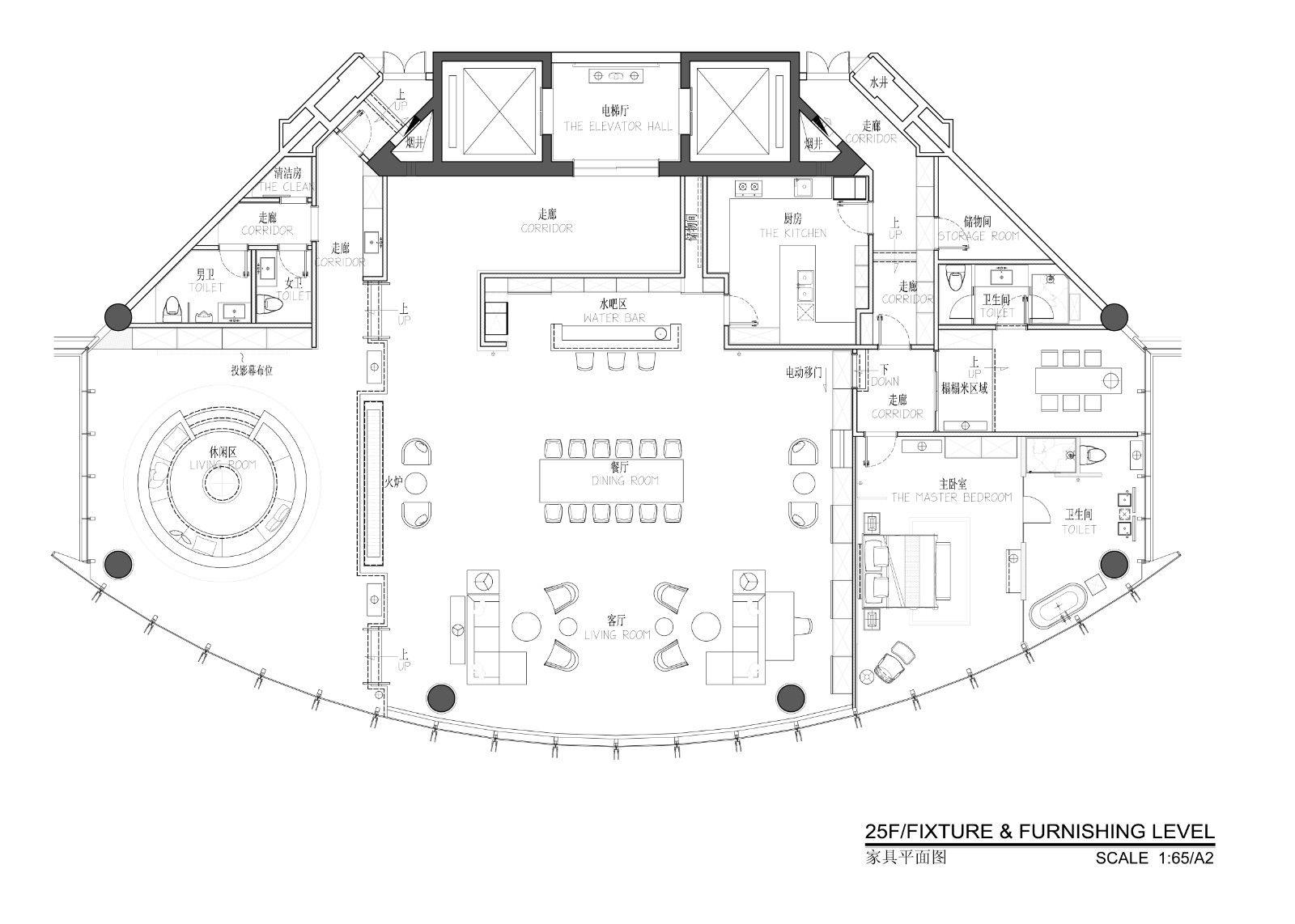 天空之镜·宁波财富中心天际会所   中赫空间设计