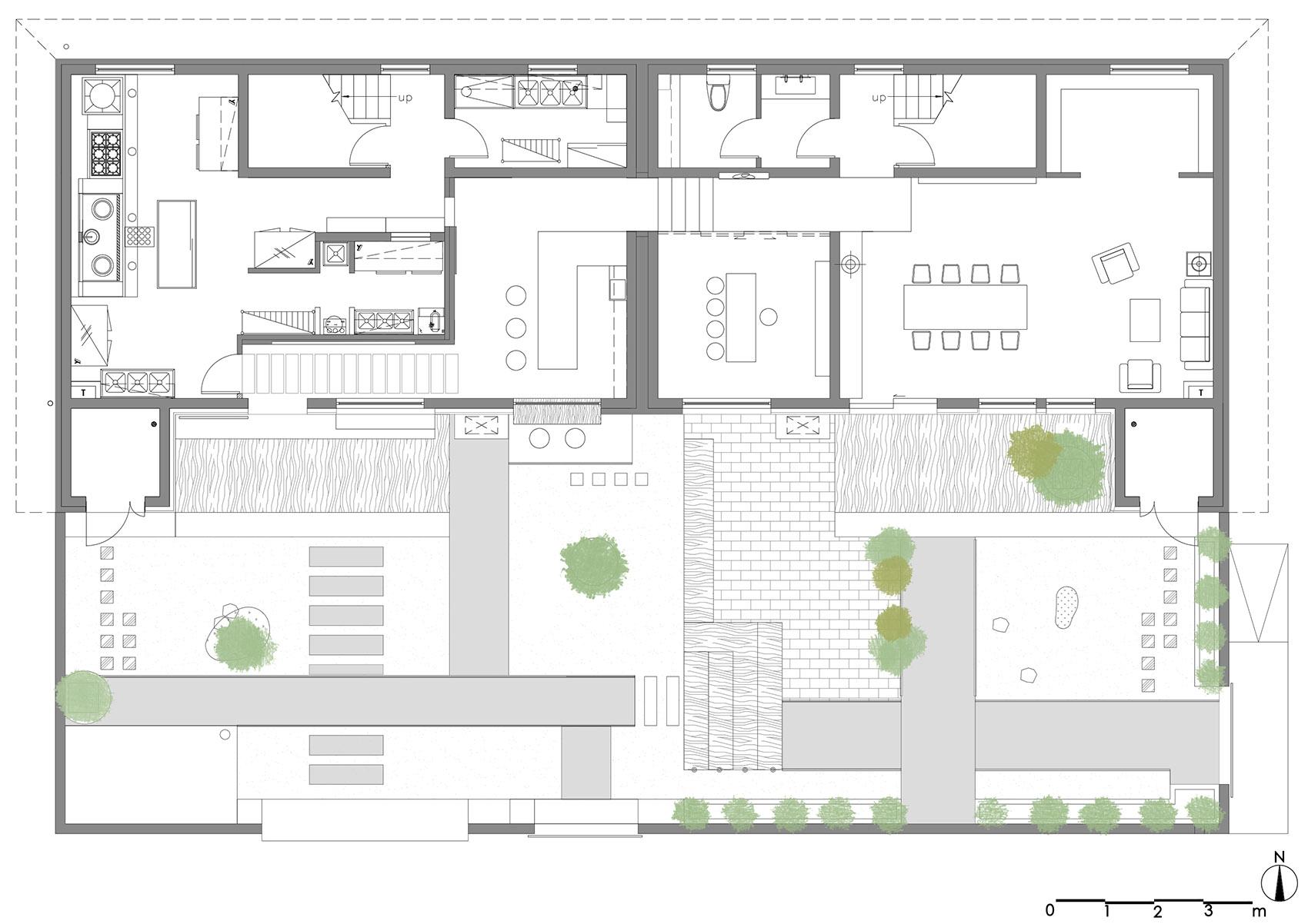 三时享院:景观、建筑、室内全方位打造的隐秘餐厅。