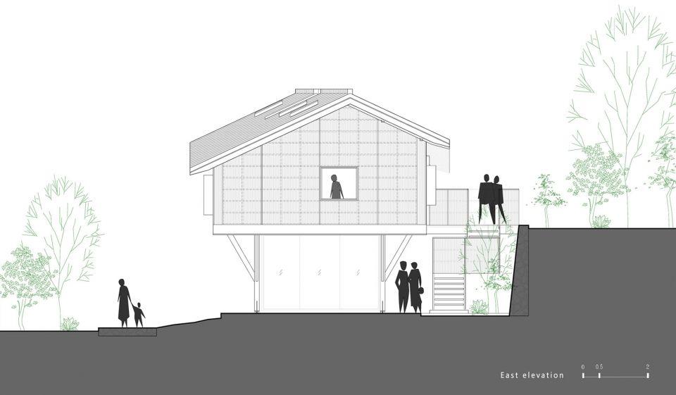 深山环绕的乡村书屋,武义梁家山·拾云山房 | 尌林建筑设计事务所