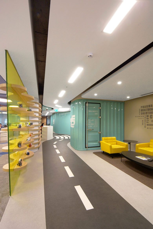 伊斯坦布尔一家物流公司的现代办公室设计