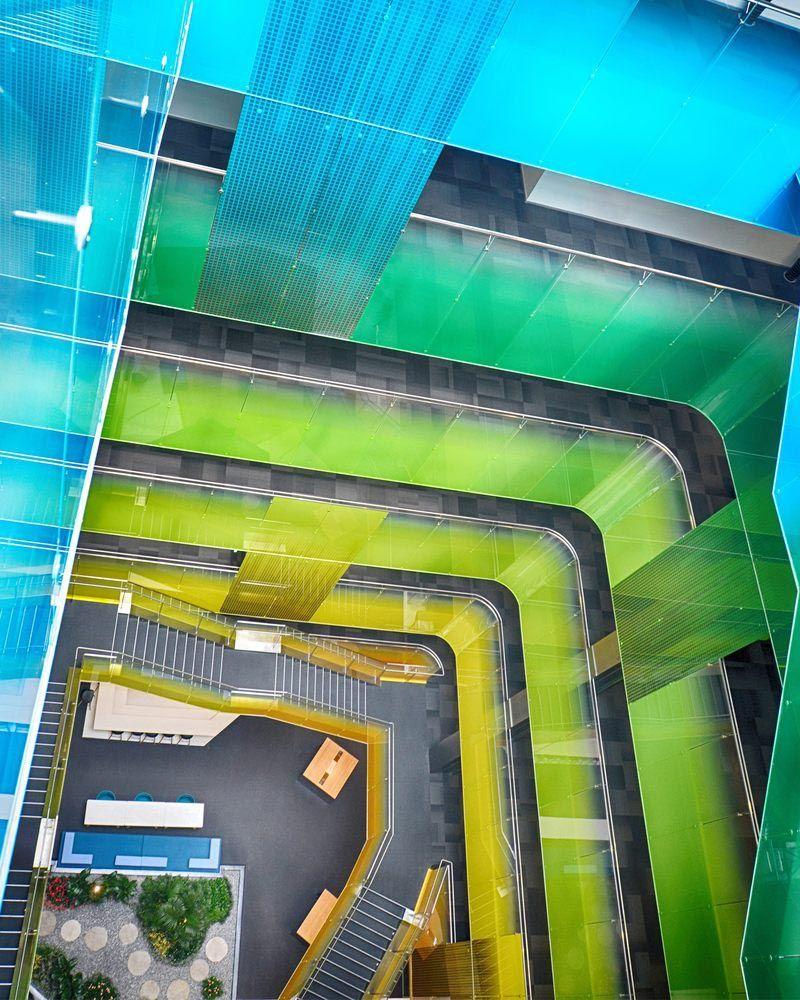 """60种颜色玻璃""""串""""起来的苏州微软研发中心"""