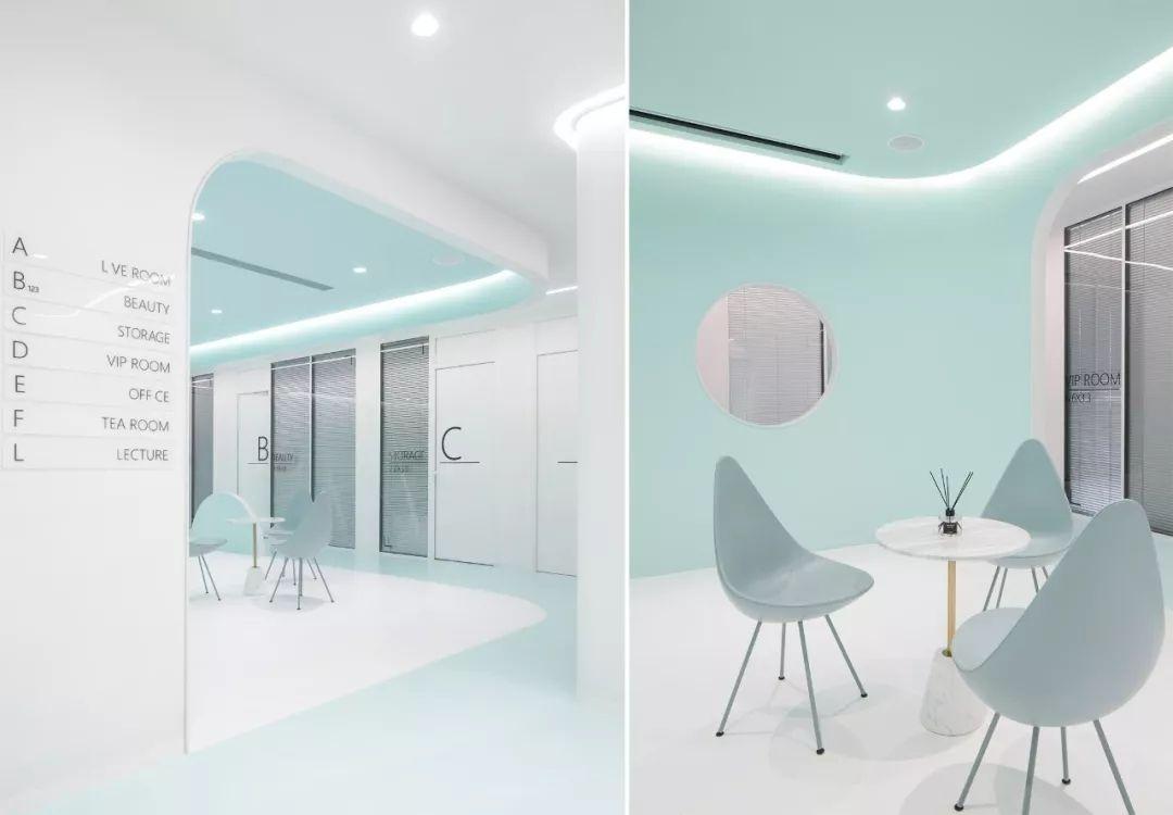 薄荷绿·175㎡美如梦境的办公空间设计方案 | 朴开十向