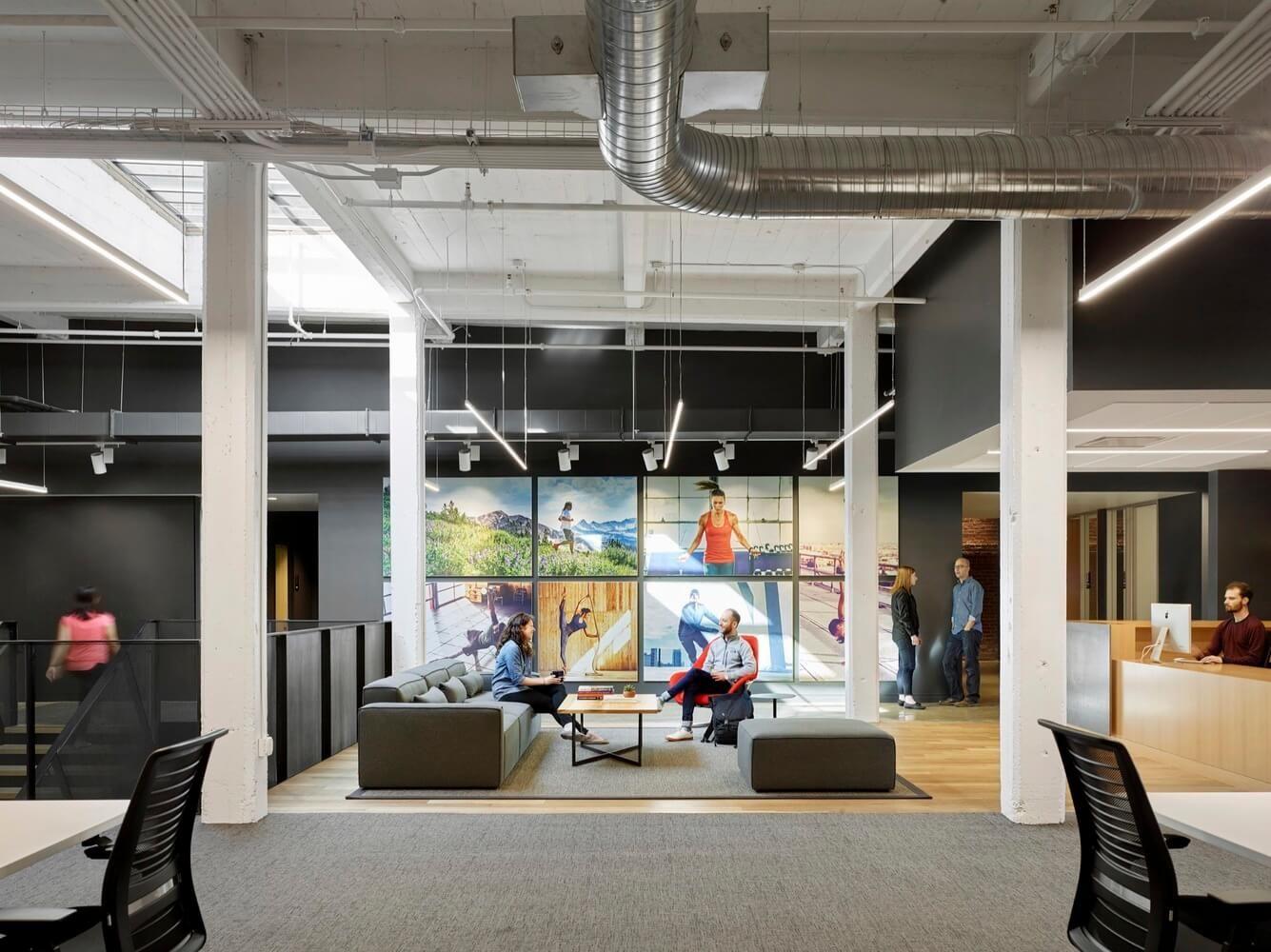 建筑改造之旧金山Under Armour办公室设计