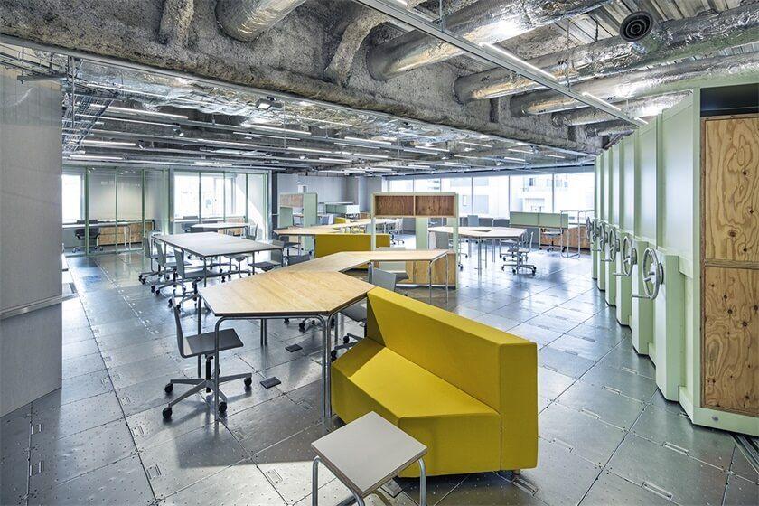 混搭工业风,东京Toy's Factory办公室设计