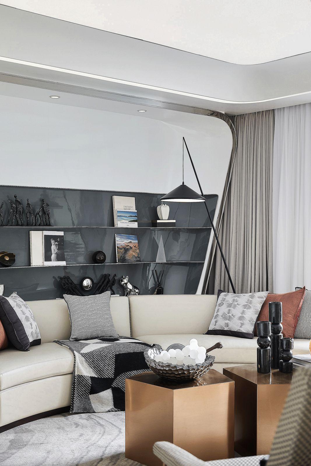 纯粹的白,轻奢简约风175m2样板房 | 朴悦设计