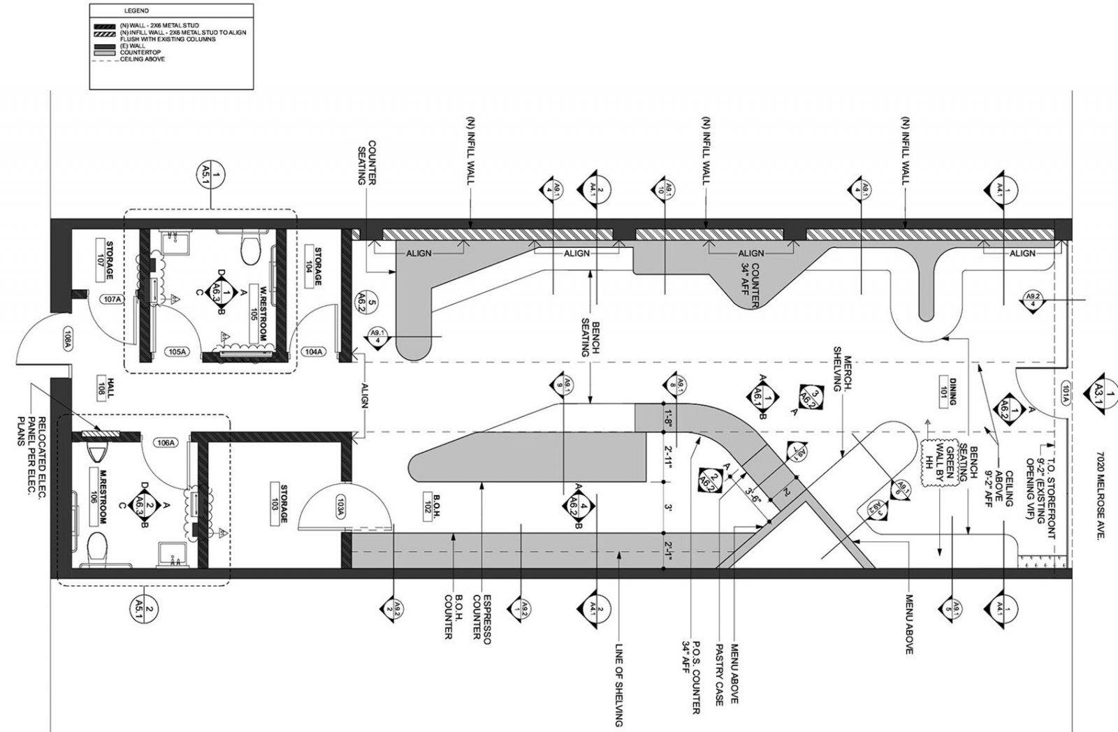 神秘的森林主题,洛杉矶大脚怪咖啡厅 | Dan Brunn Architecture