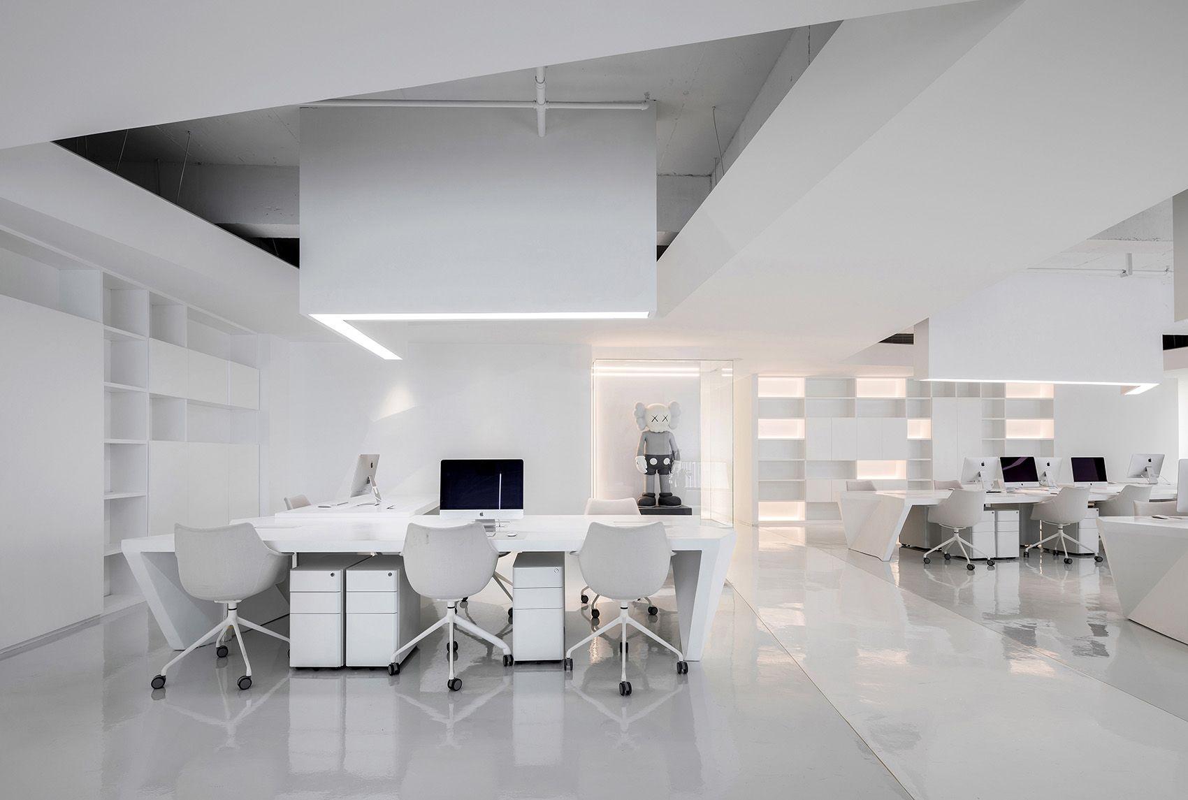 时上建筑设计   一条白裙延伸的办公空间 ! 沈墨 - 3