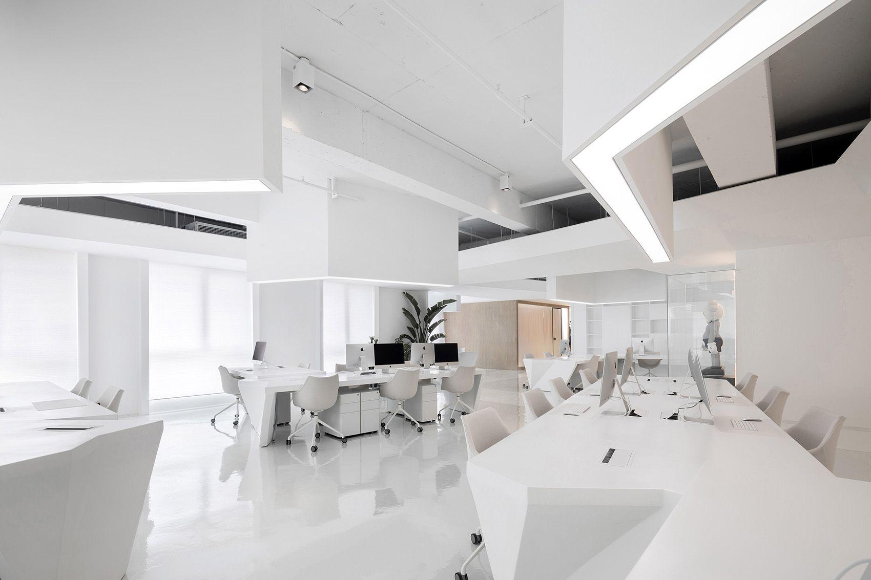 时上建筑设计   一条白裙延伸的办公空间 ! 沈墨 - 4