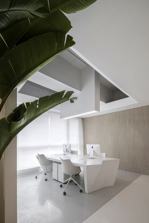时上建筑设计   一条白裙延伸的办公空间 ! 沈墨 - 5