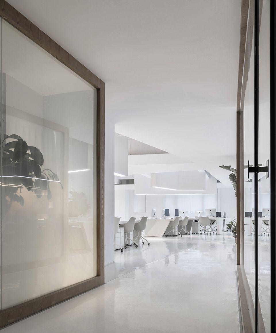 时上建筑设计   一条白裙延伸的办公空间 ! 沈墨 - 6