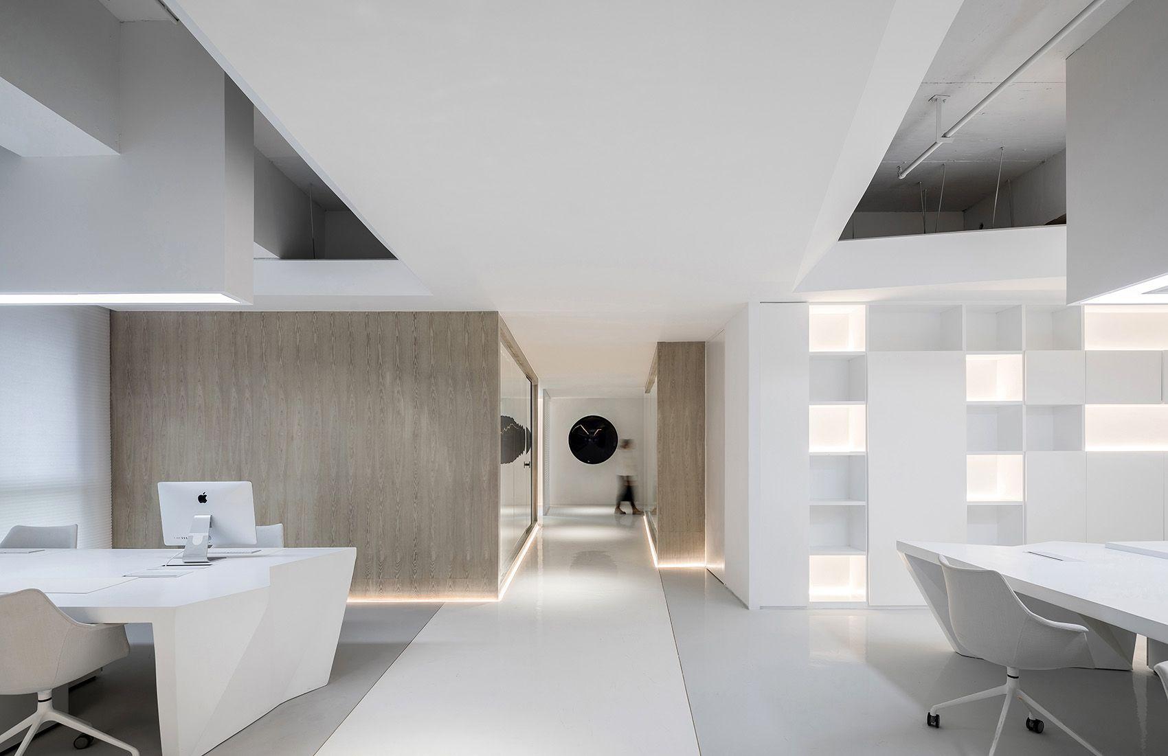时上建筑设计   一条白裙延伸的办公空间 ! 沈墨 - 7