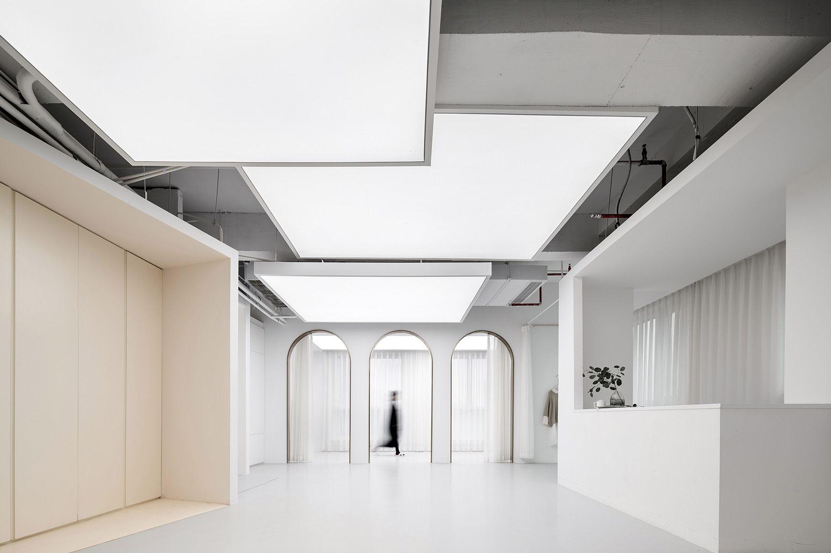 时上建筑设计   一条白裙延伸的办公空间 ! 沈墨 - 9