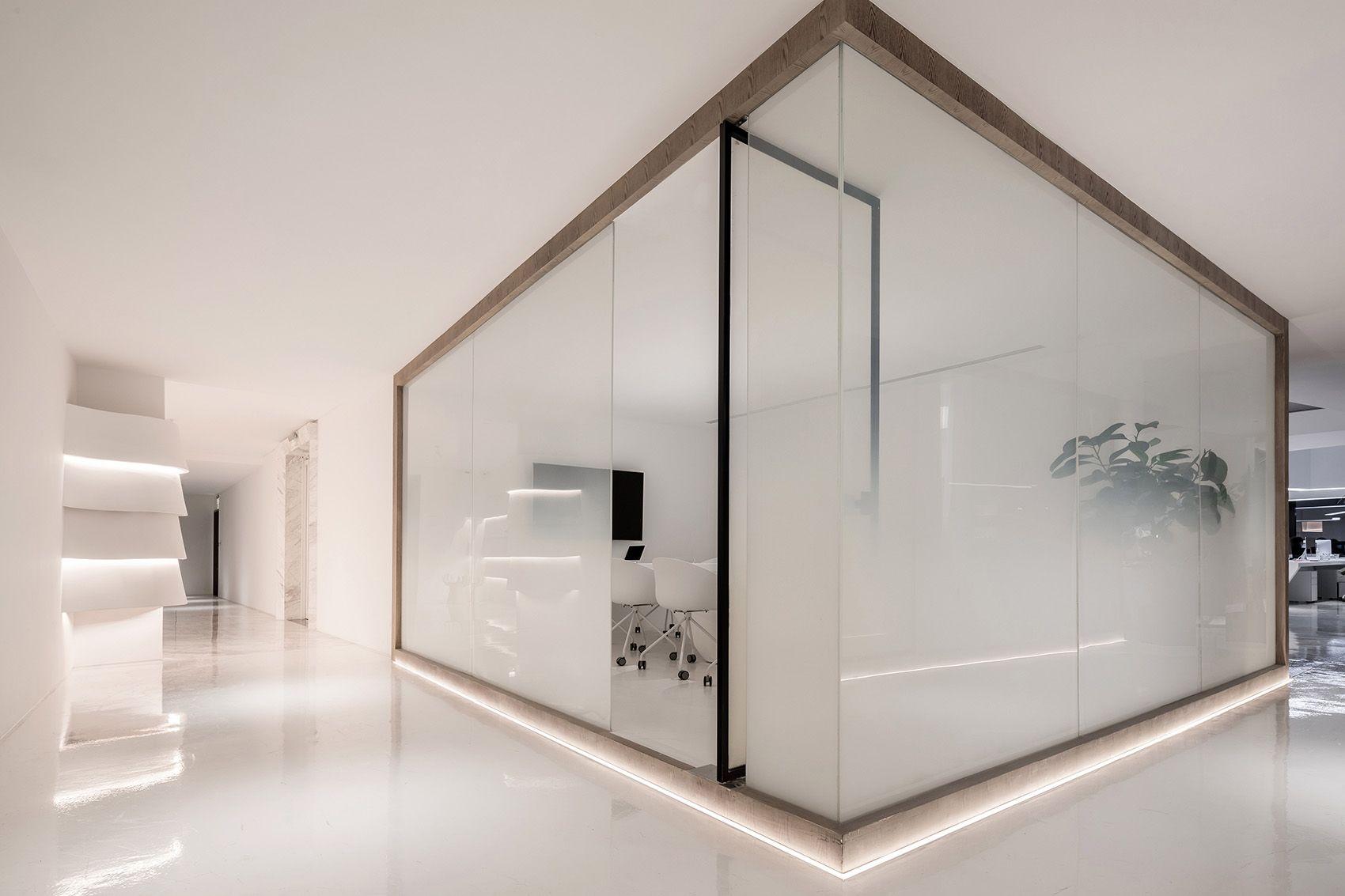 时上建筑设计   一条白裙延伸的办公空间 ! 沈墨 - 8