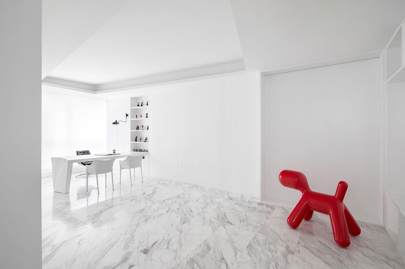 时上建筑设计   一条白裙延伸的办公空间 ! 沈墨 - 11