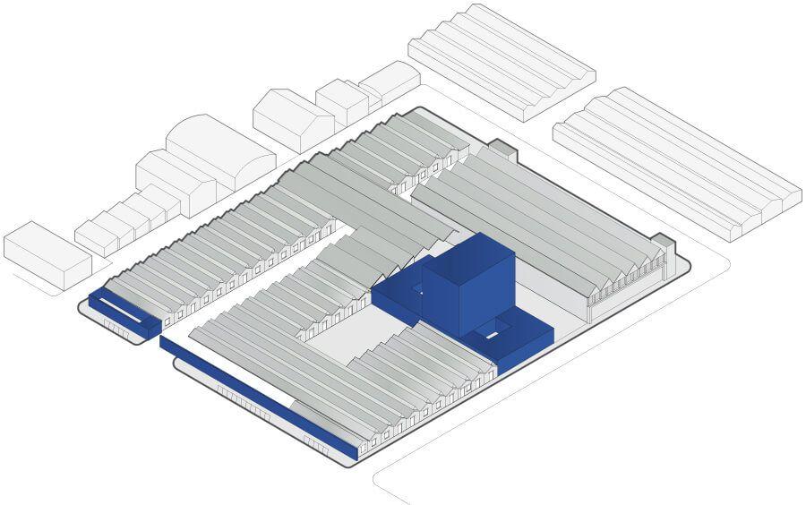 米兰20年代飞机装配厂房改造之Gucci全新办公区设计