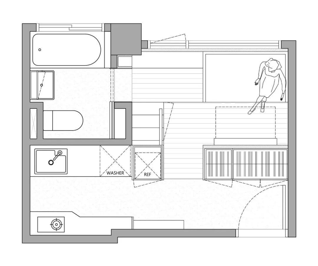 一个人的豪宅,17.6㎡极小公寓 | A Little Design