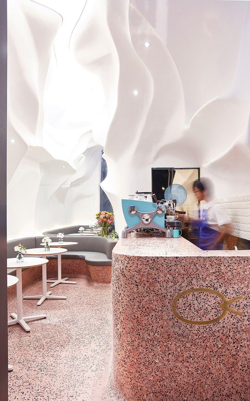 凝固的海水与游动的珊瑚,北京布鱼盈科店 | SODA 建筑师事务所