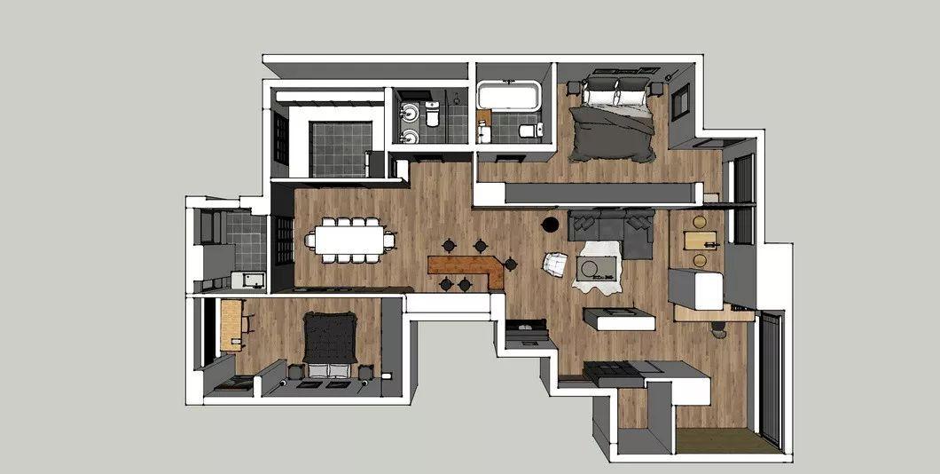 简洁现代风,150㎡舒适的家 | 季意空间设计