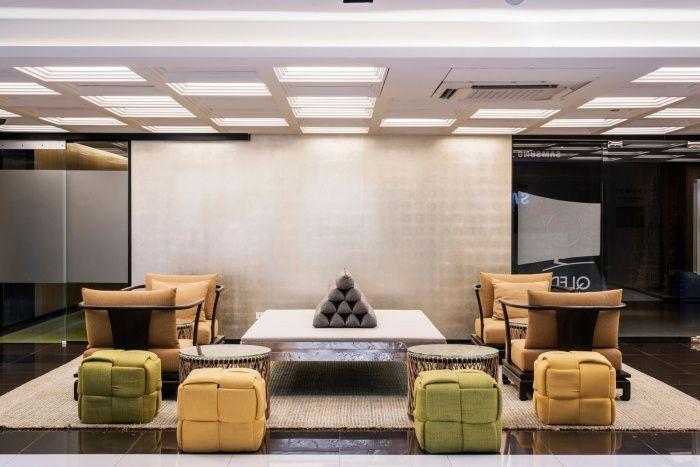 多国家元素的融合—泰国三星办公室设计