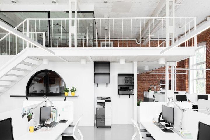 红砖白墙,茶包工厂改造办公室设计