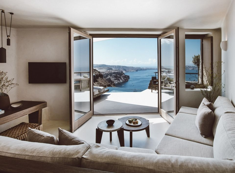 悬崖上的白色别墅,圣托里尼岛Vora酒店 | K-studio