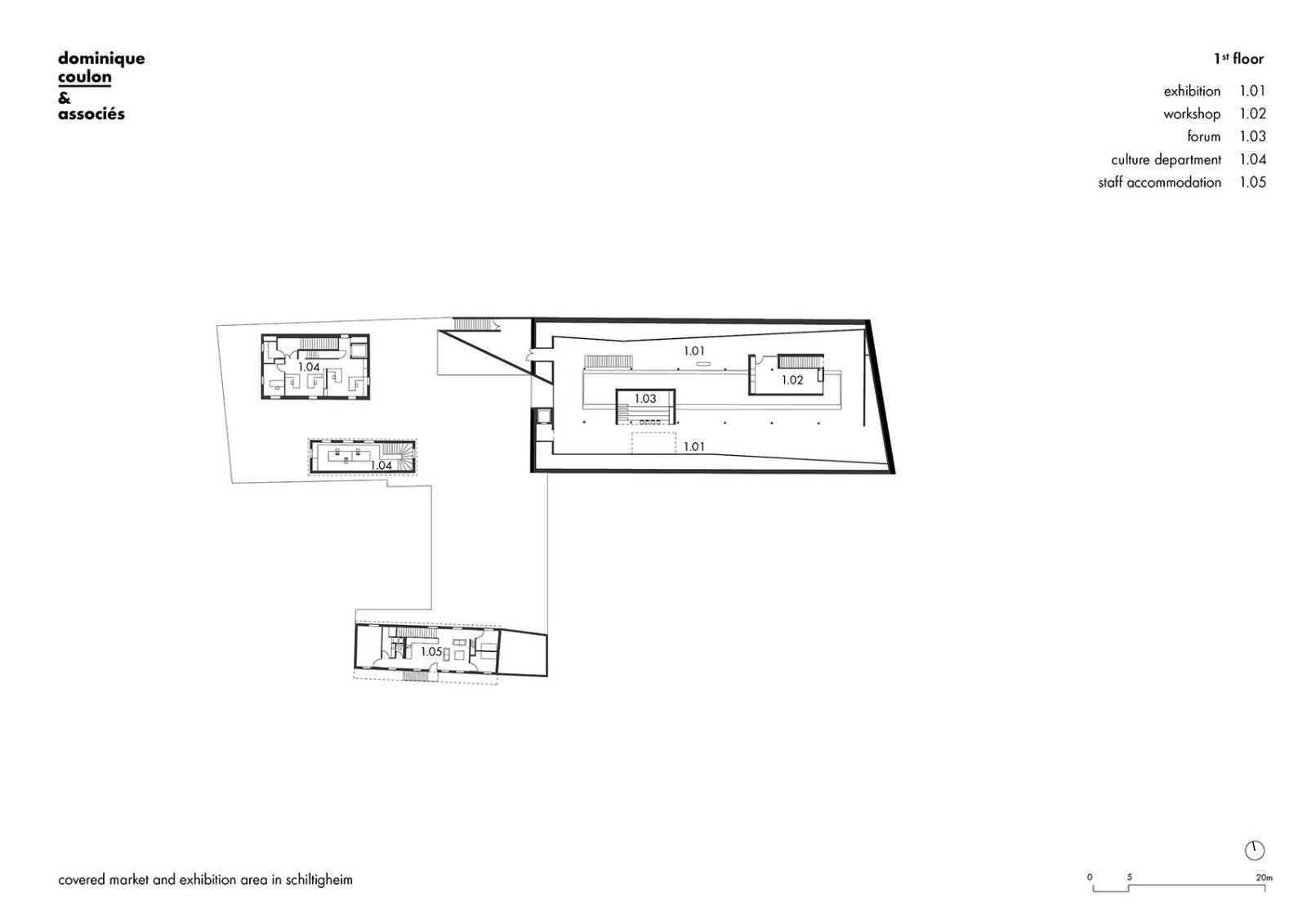 Schiltigheim室内集市和展览空间,法国 / Dominique Coulon & associés