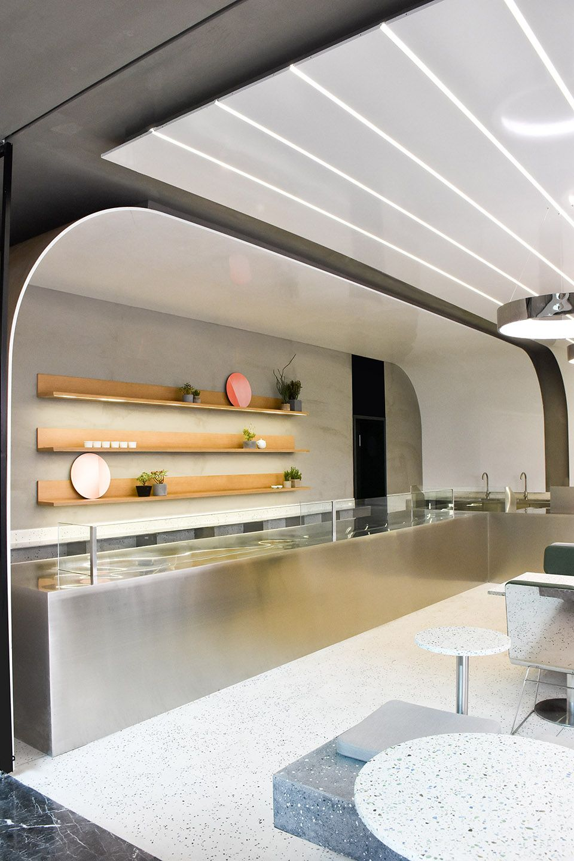 弧形光带围合而成的美食空间 头条计画  - 3