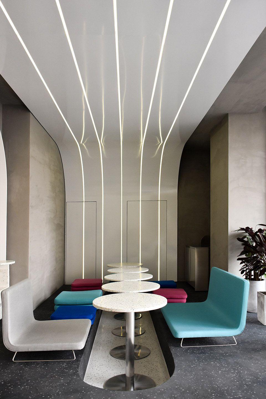 弧形光带围合而成的美食空间 头条计画  - 9