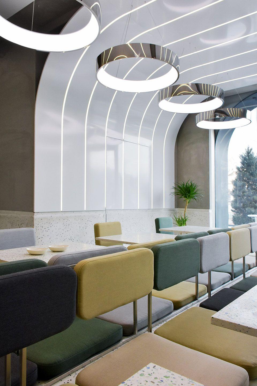 弧形光带围合而成的美食空间 头条计画  - 12