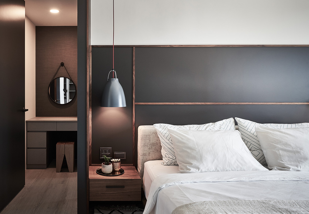 191㎡现代黑色住宅,完美诠释两人世界的专属天地。