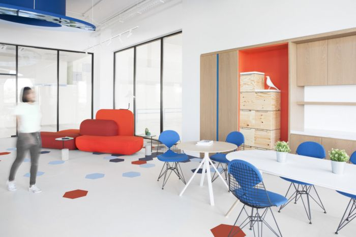 一个可以灵活办公的大型办公室