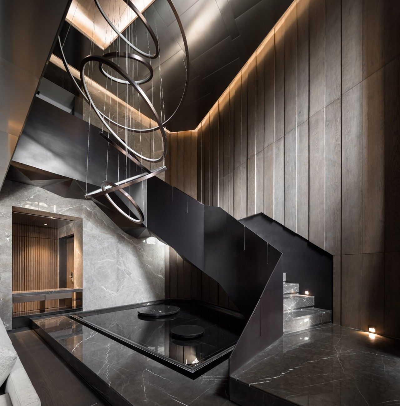 最新 | 唐忠汉:540m2顶层复式 ,大地灰演绎最美的奢宅气质