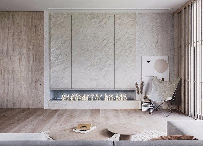 幽静自然禅风!瑞士86㎡日系灰白单身公寓 | Nazar Tsymbaliuk