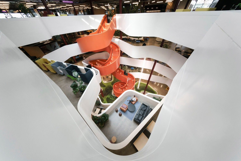 B:Hive Smales Farm工作空间,奥克兰 / BVN + Jasmax Architects