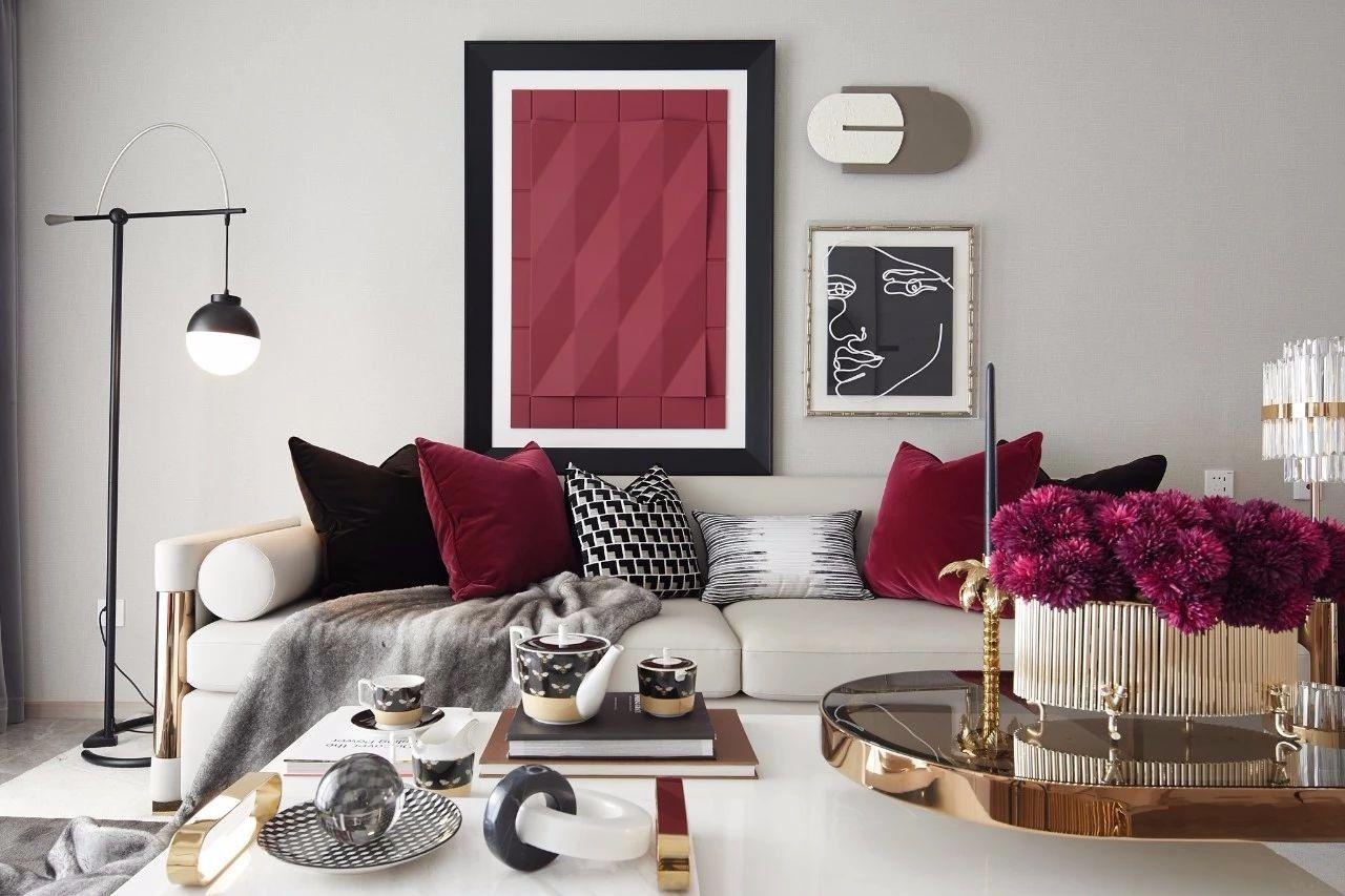 ''红梨色''点缀的奢丽雅致住宅丨这是一场以取悦自我为主题的视觉盛宴 D.DECOR DESIGN - 6