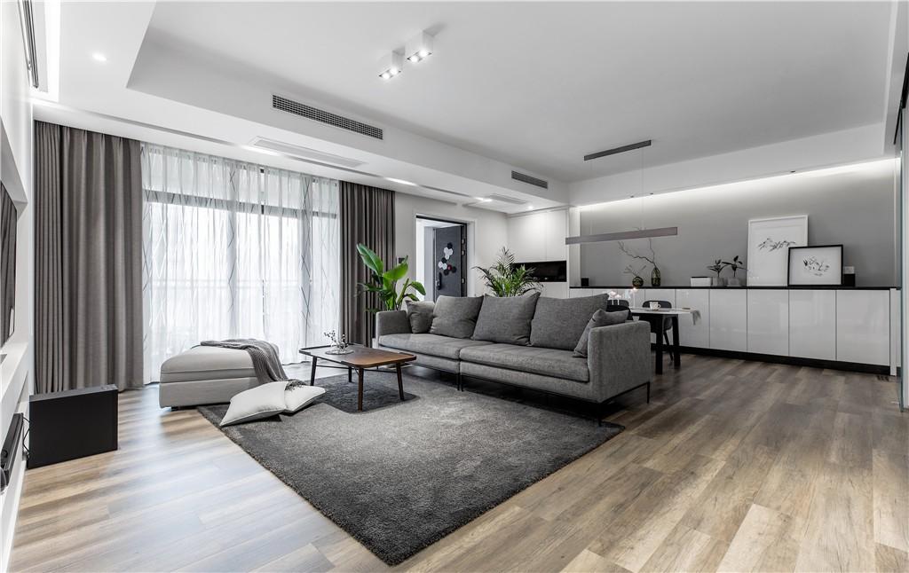 黑白灰经典搭配, 优雅住宅