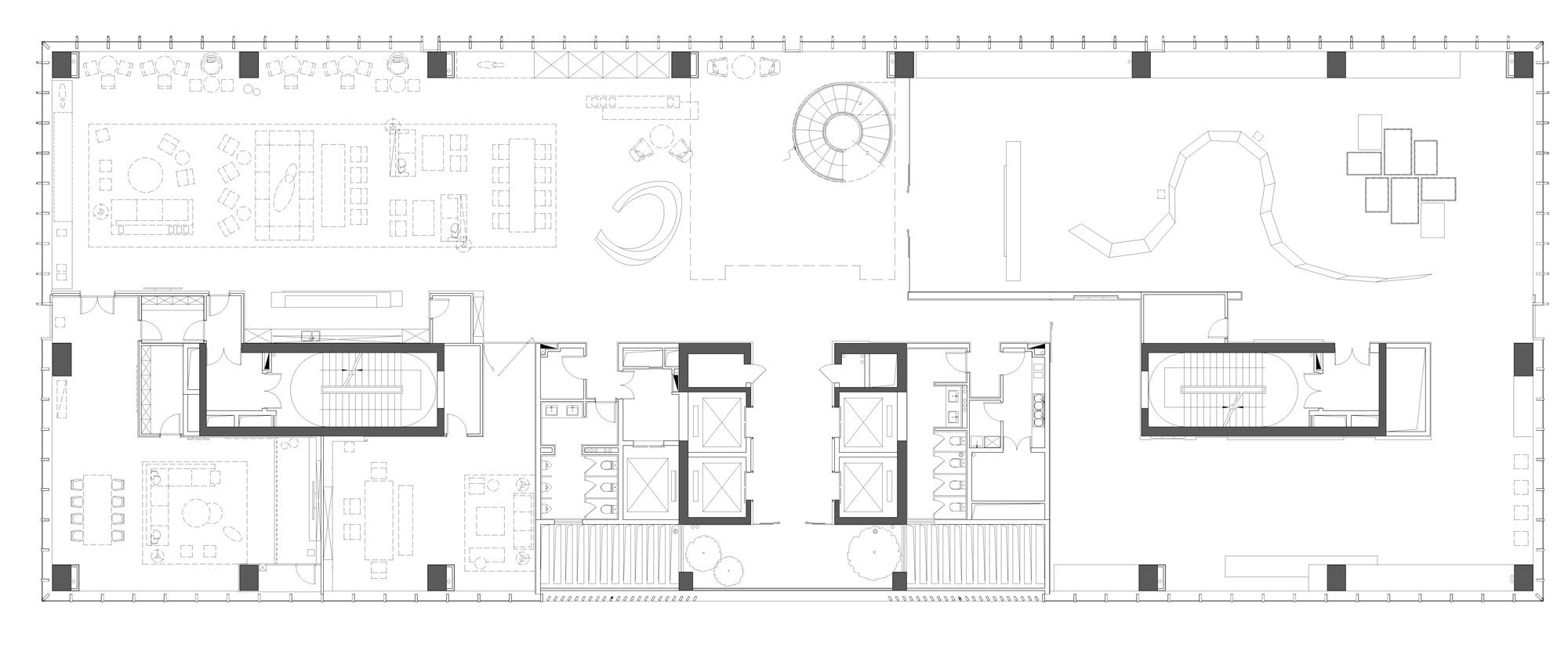 共生形态设计,建构办公空间的深邃感