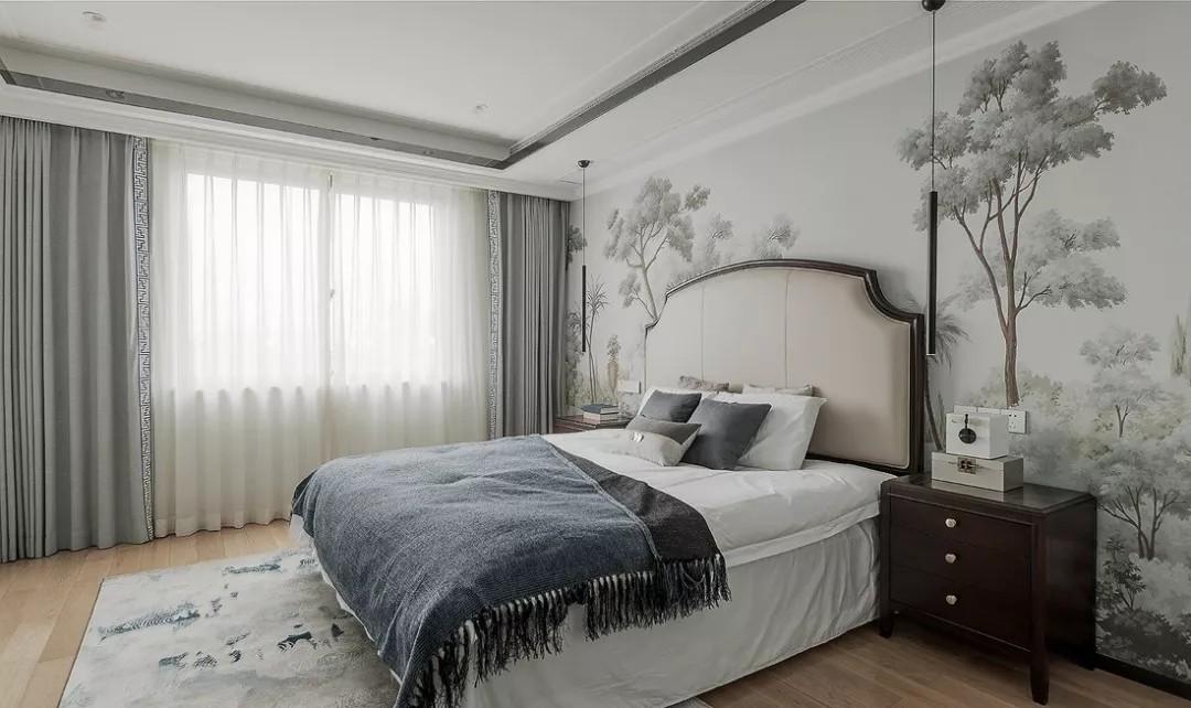 高级灰色调住宅,新中式玄关设计