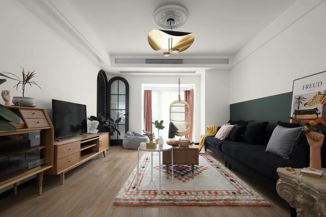 休闲现代风+复古蓝住宅设计