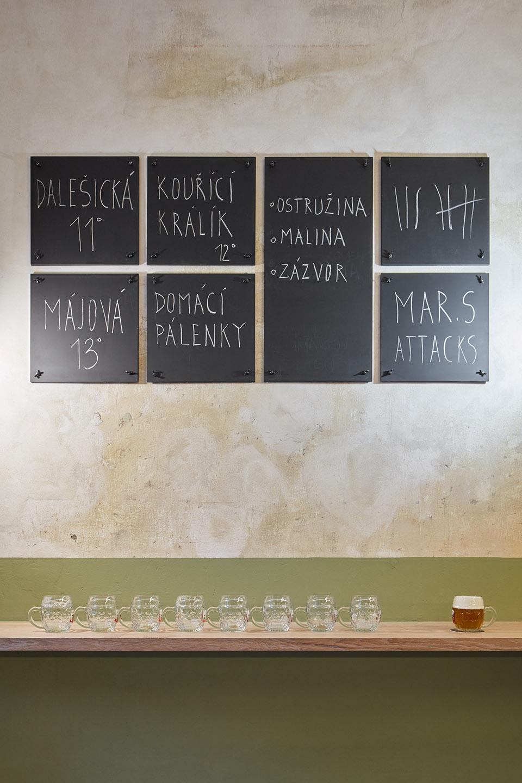 引人注目的经典的捷克酒吧