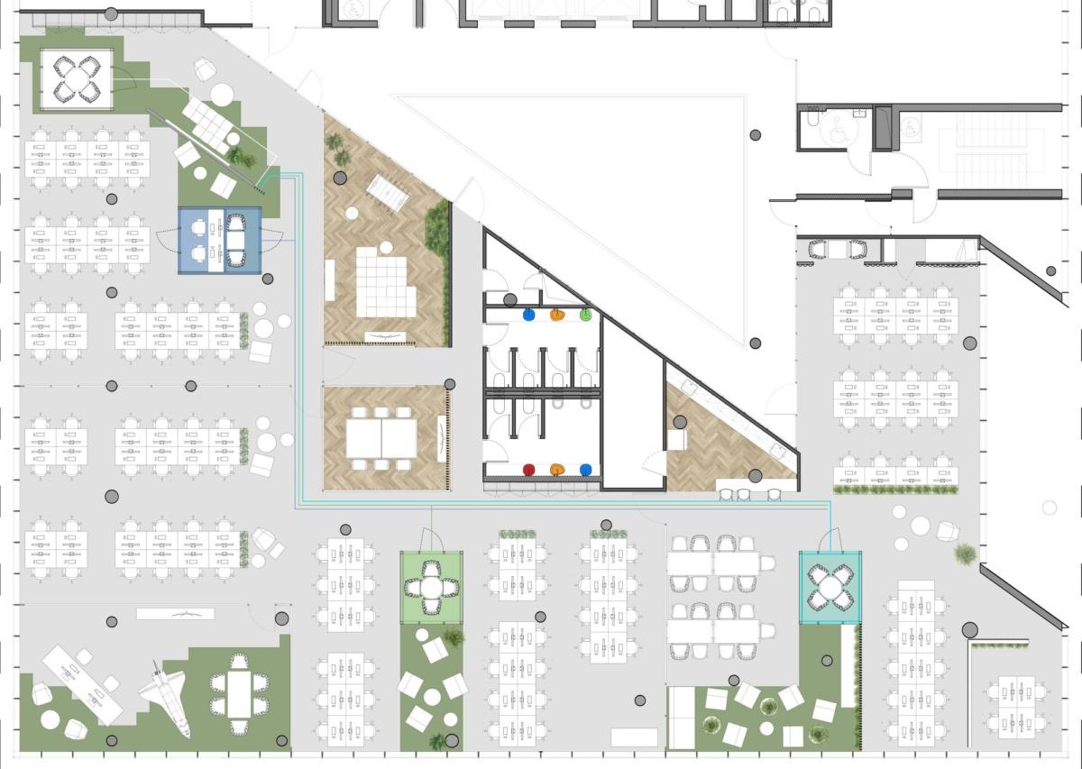 800㎡办公空间设计,精通空间布局,诠释工作态度|LAVA studio - 23