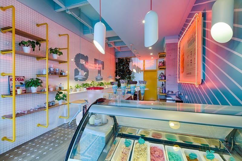 哥伦比亚冰淇淋店欣赏