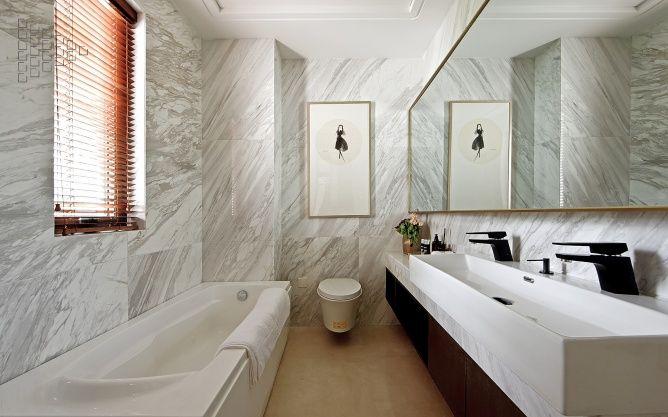张家港新中式样板房设计欣赏