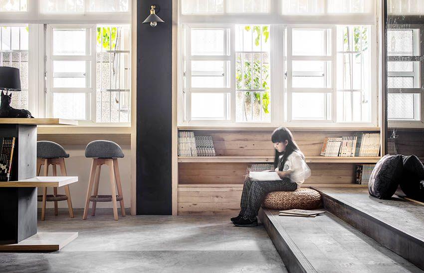 60 年旧教室改造成南兴国小图书馆设计欣赏